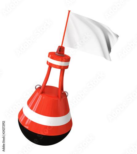 Boje mit beschreibbarer Fahne (mit Freistellungspfad) - 24272912