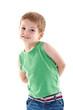 small kid posing