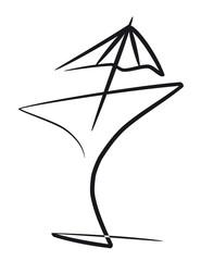 Cocktail con paraguas