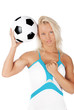 Sexy girl with ball