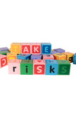 take risks in play blocks