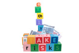 take risks with childs letter play blocks