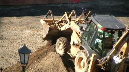 Excavadora trabajando