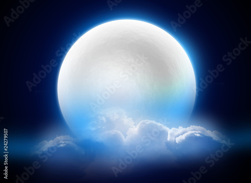 Foto op Plexiglas Volle maan MoonLight