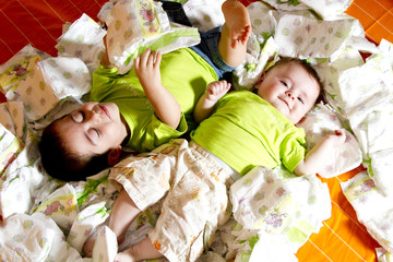 two brothers between diapers
