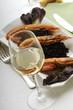 Vino bianco e risotto ai gamberoni