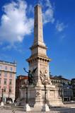 Monument to the Restorers (Restauradores) in Lisbon poster