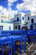 Naoussa auf Paros, eine Taverne am Hafen