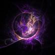 hintergrund, phantasie, violett, lila, abstrakt