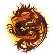 Drago di Fuoco-Fire Dragon-Dragon de Feu-Vector