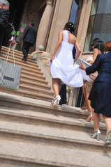 sposa per le scale