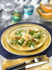salade mixte au melon
