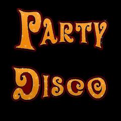 flyer, party, disco, disko, text schwarz