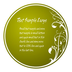 Floral circle card with text space