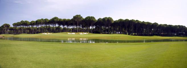 panorama of golf club, landscape