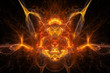 background daemon, face, fire, alien, art