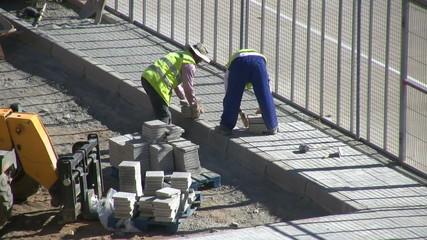 Obreros trabajando