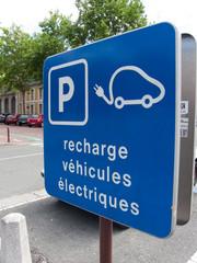 Place de parking, recharge de voiture électrique