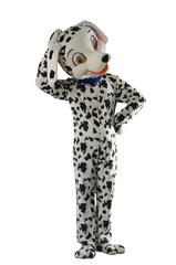 a man dressed as a dog Dalmatians