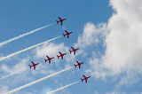 precision formation aircraft flying display poster