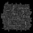 STRESS. Wordcloud vector illustration.