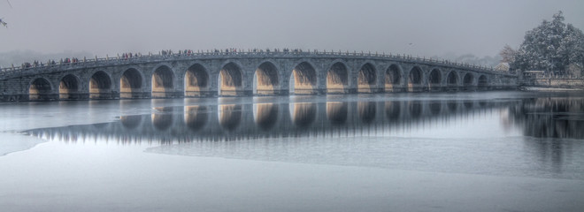 the 17 arch bridge summer palace beijing
