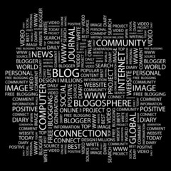 BLOG. Wordcloud vector illustration.