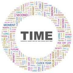 TIME. Circular frame with association terms.