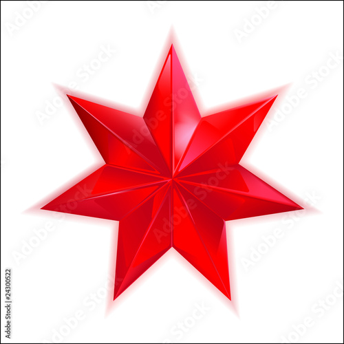 glass red star