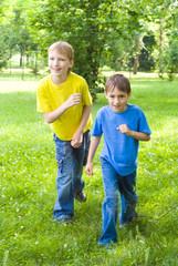 happy children  in the outdoors