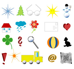 Symbols for young children, vector