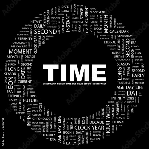 TIME. Circular frame with association terms.