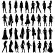 icones femmes ou silhouettes féminine