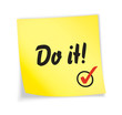 "Yellow sticky note ""do it"""