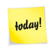 "Yellow sticky note ""today"""