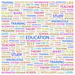 EDUCATION. Wordcloud vector illustration.