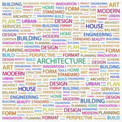 ARCHITECTURE. Illustration with association terms.