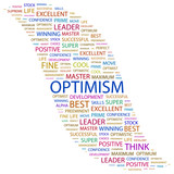 OPTIMISM. Word collage on white background. poster