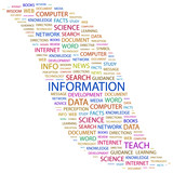 INFORMATION. Word collage on white background. poster