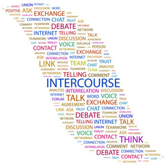 INTERCOURSE. Wordcloud vector illustration.