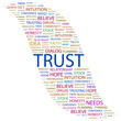 TRUST. Wordcloud vector illustration.