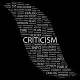 CRITICISM. Wordcloud illustration. poster