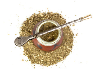 calabash with yerba mate
