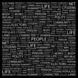 PEOPLE. Wordcloud vector illustration.