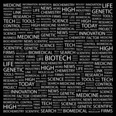 BIOTECH. Wordcloud vector illustration.