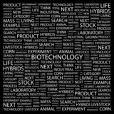BIOTECHNOLOGY. Word collage on black background. poster
