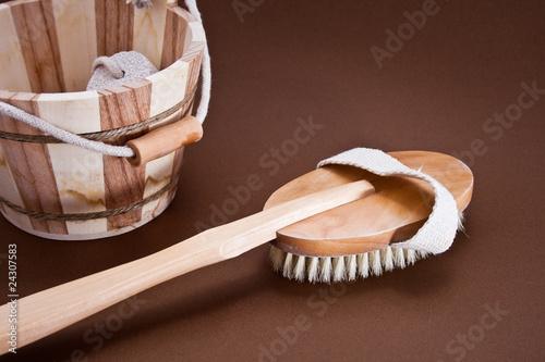 brosse pour le dos de paipai photo libre de droits. Black Bedroom Furniture Sets. Home Design Ideas