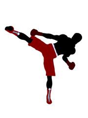 Male Boxer Illustration Silhouette