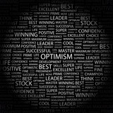 OPTIMISM. Wordcloud vector illustration. poster