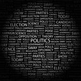 POLITICS. Wordcloud vector illustration. poster
